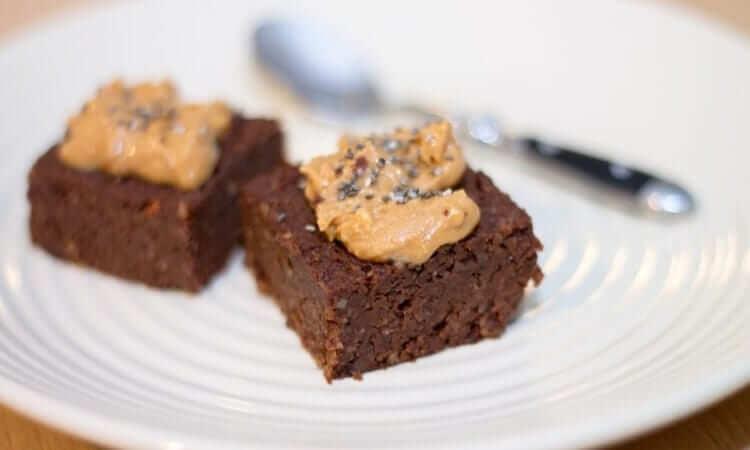 Decadent Peanut Butter Dark Chocolate Brownies